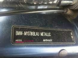 Название цвета и код краски BMW